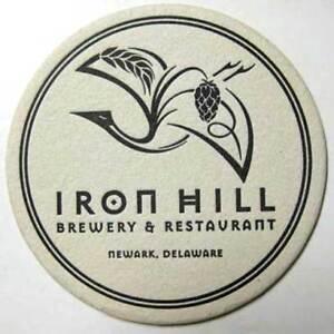 Newark DELAWARE 1997 IRON HILL BREWERY Beer COASTER Mat
