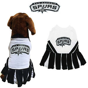finest selection 7f4c6 1d8a8 Details about NBA Pet Fan Gear SAN ANTONIO SPURS Cheerleader Female Dog  Dress Outfit for Dogs