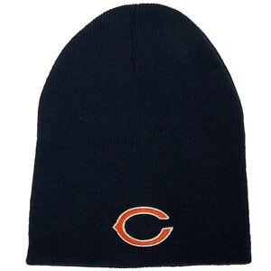 chicago bears knit beanie hat official logo winter cap. Black Bedroom Furniture Sets. Home Design Ideas