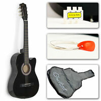 Best Choice Products 38in Beginner Acoustic Guitar Musical Instrument Kit with Case, Strap, Tuner & Pick (Multi Colors)