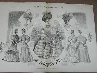 L' ART ET LA MODE - 1893 - No 18 - ILLUSTREE - SALON CHAMPS ELYSEES VERNISSAGE