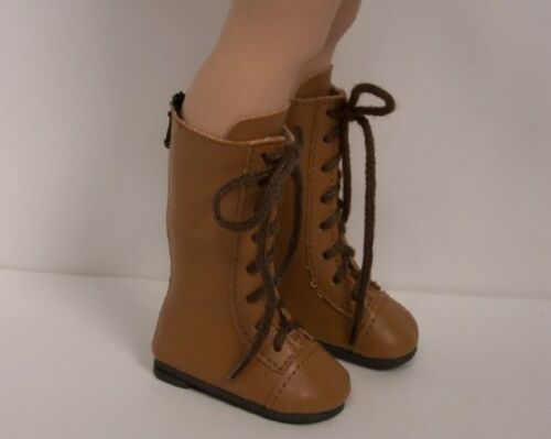 """LT BROWN Knee ZIPPER Boots Doll Shoes For 16/"""" Kish Four Season Dolls Debs"""