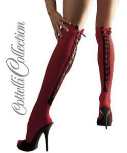 akzeptabler Preis neuer Stil & Luxus Neues Produkt Details zu Rote Overknees Gr M/L NEU OVP sexy