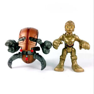2x-Star-Wars-Playskool-Galactic-Heroes-C3PO-Foot-Droid-amp-Destroyer-Droid-figures