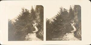 Francia Luchon Il Sentier Del Lac Di Oo , Foto Stereo Vintage Analogica PL62L11