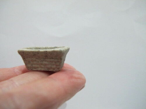 2 Olla De Porcelana En Miniatura Rectangular Efecto De Piedra 1:16 1:24 1:48 RS1 Casa De Muñecas
