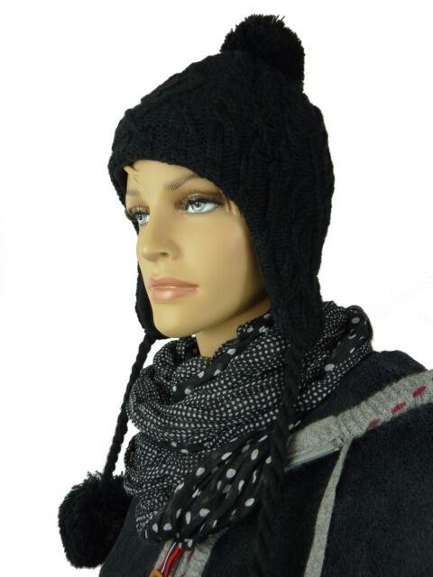 ac54039d282 Womens Knit Hats Pompom Ladies Hat Winter Hat Padded Beanie Ta1138 Black