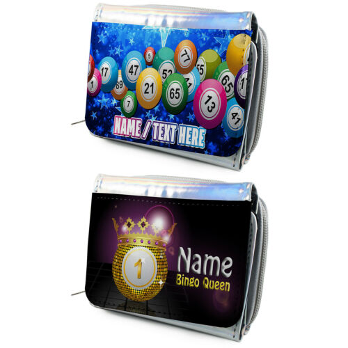 Personalised Ladies Purse Bingo Queen Silver Coin Wallet Pretty Birthday Gift