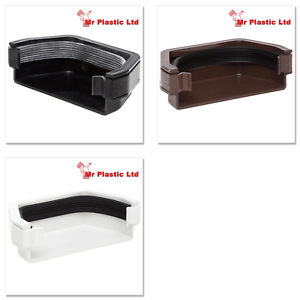 Polypipe 112mm Square Gutter External Stop End In White Brown Or Black Rs207 Ebay