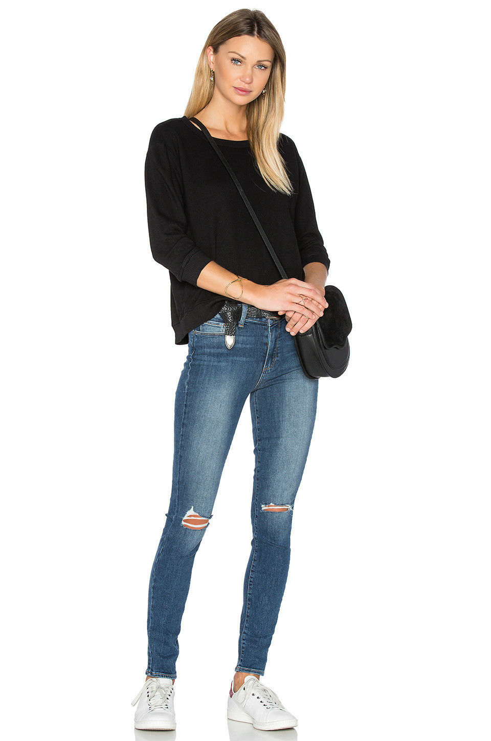 Paige Hoxton High Rise Ultra Skinny Jeans Keiran Destructed Size 32 NWT