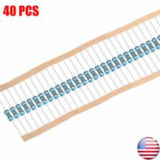 14w 25 Watt 1 Tolerance Metal Film Resistor 40 Pieces Usa Seller