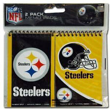"2 Pack Memo Pads NFL Football Pittsburgh Steelers 2Pk Spiral 3"" x 5"" Note Pad"
