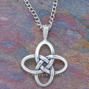 925 sterling silver celtic knot irish quatrefoil pendant necklace image is loading 925 sterling silver celtic knot irish quatrefoil pendant aloadofball Images