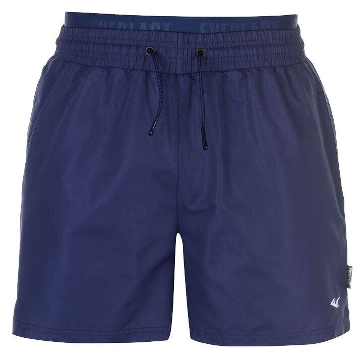 Everlast Jac Bermuda Shorts Short Bain Secondé Pantalon Court S M Bleu Foncé Neuf