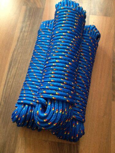 Polypropylenseil,Tauwerk 8 mm x 30m,Tau Bootsleine,Blau Nr.9 Polypropylen Seil