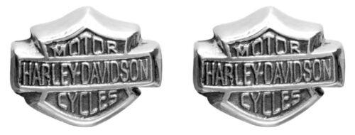 Harley-Davidson Women/'s Bar /& Shield Sterling Silver Post Earrings HDE0085