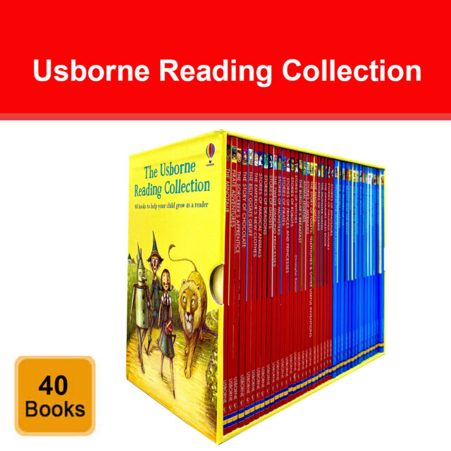 Usborne Reading Collection 40 Books Box Set (Usborne Reading Series 1 & 2) Pack