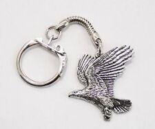 Eagle Bird Key-ring (keychain) in Fine English Pewter, Handmade (tsh-A), Keyring