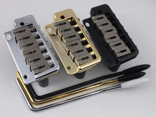 Black WILKINSON WVP2SB TREMOLO BRIDGE Stainless Steel Saddles in Chrome Gold