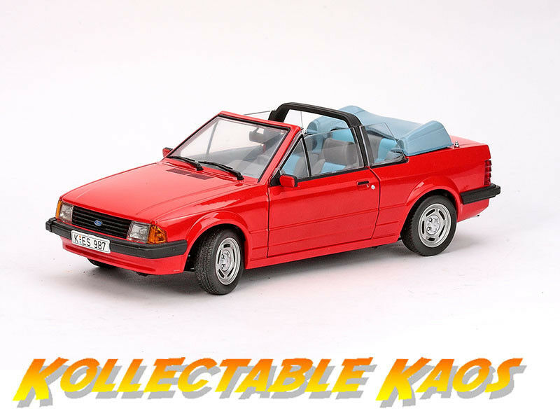 1 18 Sun Star - 1984 Ford Escort Mk3 GL Cabrio - Sunburst rouge