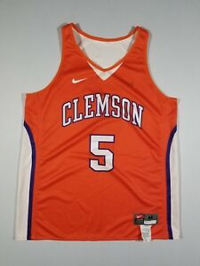 6e00f9bd Image is loading NIKE-Womens-Clemson-Tigers-Reversible-5-Basketball-Jersey-