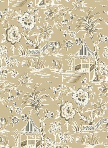 Oriental scene tropical floral print Wallpaper York AT7034  FREE POSTAGE