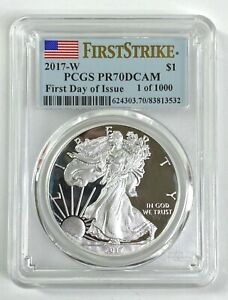 PCGS PR70 DCAM 2017-W American Silver Eagle Proof First Strike