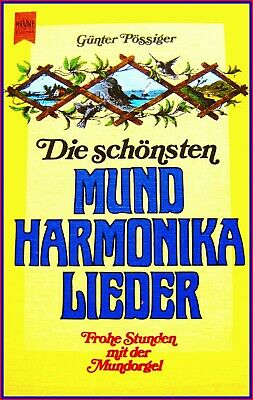 Noten & Songbooks Die SchÖnsten Mundharmonika Lieder Buch Easy Notensatz Text Harp GÜnter PÖssiger