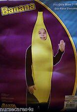 BANANA FRUIT HALLOWEEN COSTUME YELLOW FOAM BODY COSTUME CHILDREN SIZE  7-10