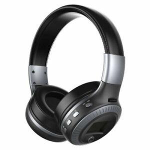 Stereo Headset Kopfhörer Bluetooth USB Headphone für PC Telefone Schwarz Grau