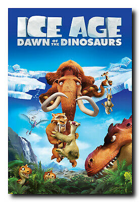 Ice Age Dawn of The Dinosaurs Movie Poster 24x36 Inch Wall Art Portrait Print