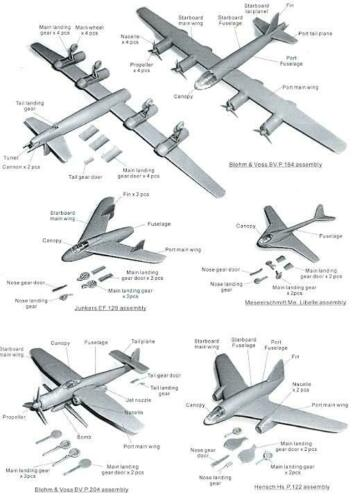 Anigrand Models 1//144 BMW STRAHLBOMBER P.II German WWII Bomber Project