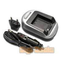 Battery Charger For Sony Np-bn1 Np-bd1 Np-fd1 Np-ft1 Np-fr1 Wall + Car Adapter