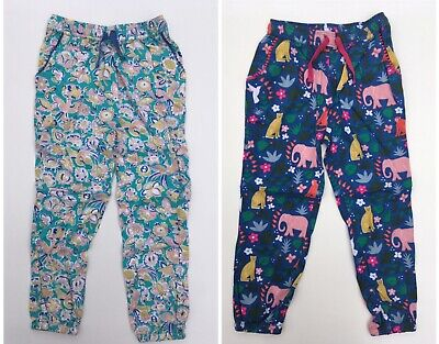 New Girls Relaxed Woven Trousers Blue Green Ex Boden Age 4-15 Years RRP £28