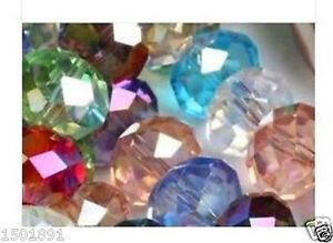 70Pcs-Multicolor-Swarovski-Crystal-Loose-Bead-6x8mm
