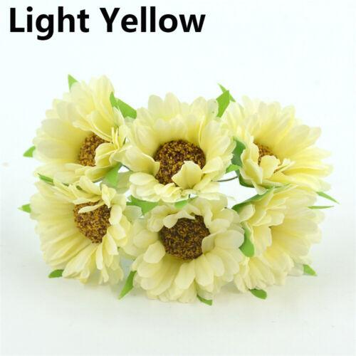 Touch Artificial Flower Wedding Decoration Silk Gerbera Fake Flores Bouquet