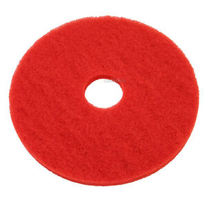 "Red Floor Pads - 15"" Floor Buffer / Polisher - Cleaning Pads - 1"" Thick - 5 Pack"