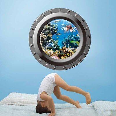 DIY 3D Underwarter Sea Word Vinyl Decal Mural Home Décor Wall Paper Sticker Hot