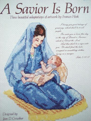 Religious pattern books for cross stitch; Jesus Latter Day Saints Madonna