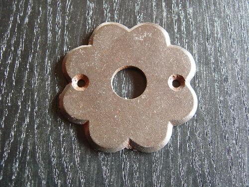 Türdrücker Rosette-Drückerschild eisenrost 3001