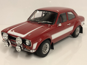 Ford-Escort-RS2000-MK1-1973-Rouge-Blanc-1-18-Echelle-Triple-9-1800133
