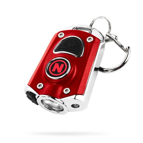 Nebo 6714 RED Mycro Rechargeable Keychain Flashlight 400 Lumens 6 Light Modes