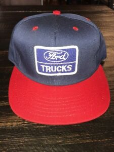 Vintage Ford Trucks Hat Cap Snapback Snap Back Trucker Farmer Blue ... f67b4b881d15
