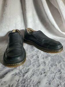 dr martens orson mens black leather slip on loafers