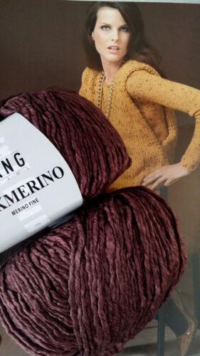 600 g SILKMERINO Lang Garn Yarns Fb 64 Marsala Weinrot SEIDE MERINO UVP 119,40€
