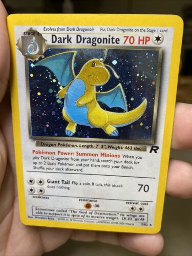 Dark Dragonite 5/83 Team Rocket Unlimited Pokemon Card PL
