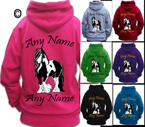 PERSONALISED-HORSE-RIDING-HOODIE-traditional-GYPSY-COB-VANNER-HEAVY-HORSE