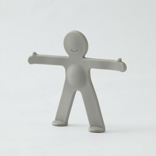 Creative Cute Little Person Hooks No T race Iron Be ndable Wall Coat Hook LIU9