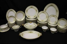 80pc Vintage Meito China DOROTHY Floral Pattern w/Gold #V1877 Svc for 12, Japan
