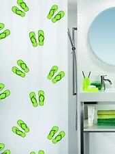 Flippy Green Eco Duschvorhang 180 x 200 cm. 100% PEVA Grün Weiss Swiss Design